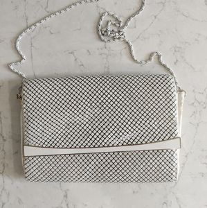 Vintage White Chainmail Purse Bag evening
